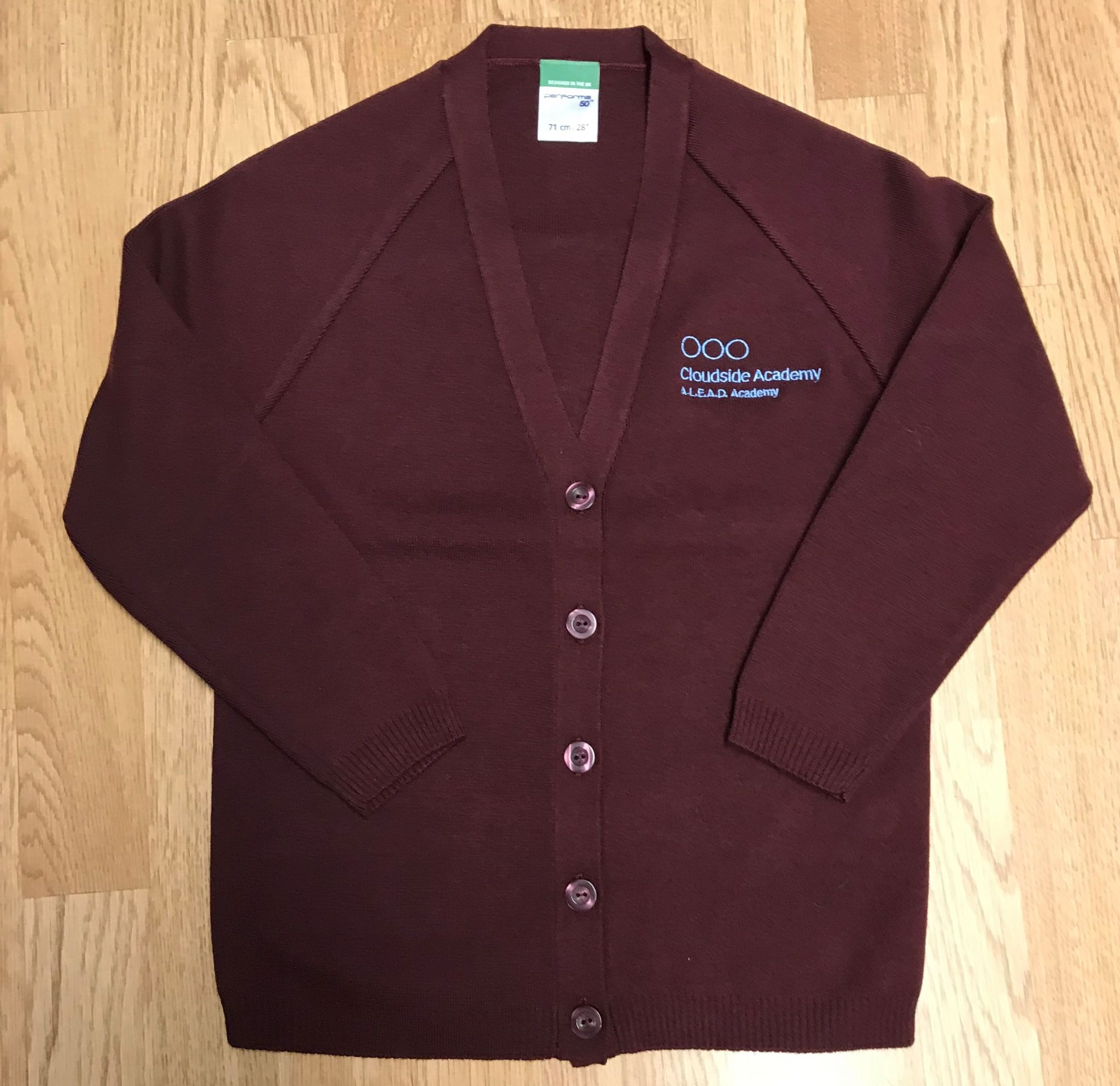 dd700be5a14cd Cloudside Maroon Knitted Cardigan with logo